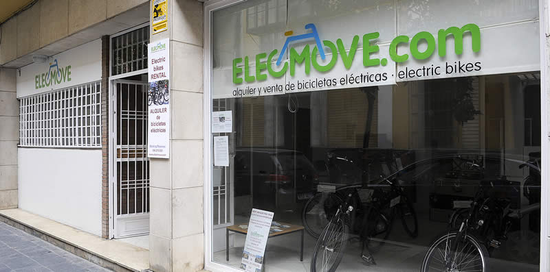 Electric bikes shop in Seville